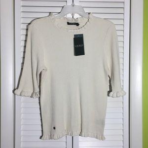 Lauren Ralph Lauren blouse XL green tag